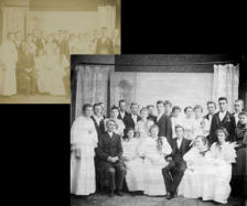 Restoration of badly faded photo